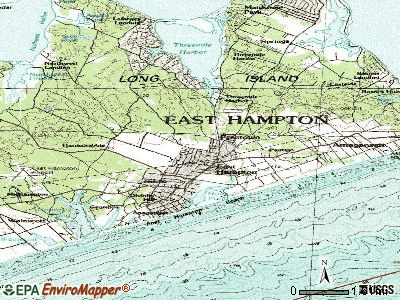 East Hampton North topographic map