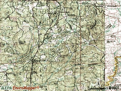 Alta Sierra topographic map