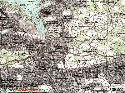 East Hills topographic map