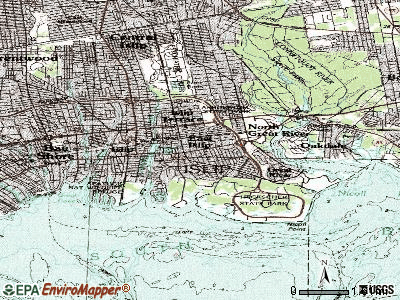 East Islip topographic map