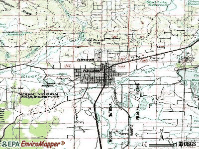Alturas topographic map