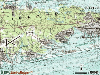 East Quogue topographic map