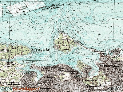 Eatons Neck topographic map