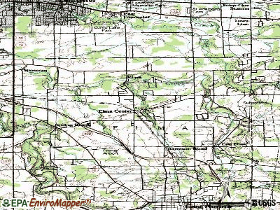 Elma Center topographic map