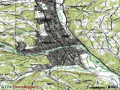 Elmira topographic map