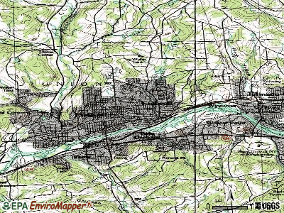 Endwell topographic map