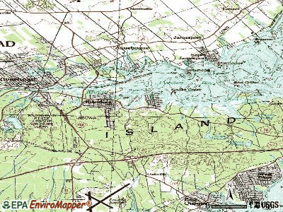 Flanders topographic map