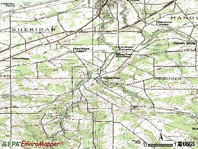 Forestville topographic map