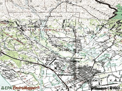 Amesti topographic map
