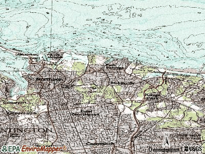 Fort Salonga topographic map