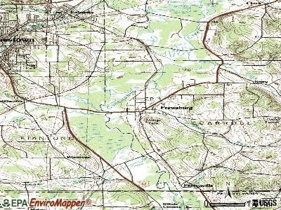 Frewsburg topographic map
