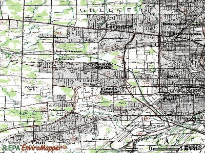 Gates-North Gates topographic map