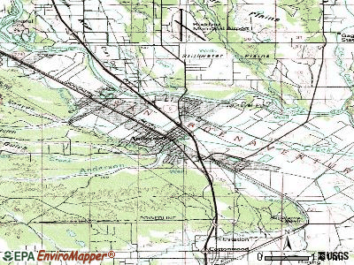 Anderson topographic map