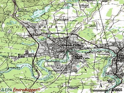 Glens Falls topographic map