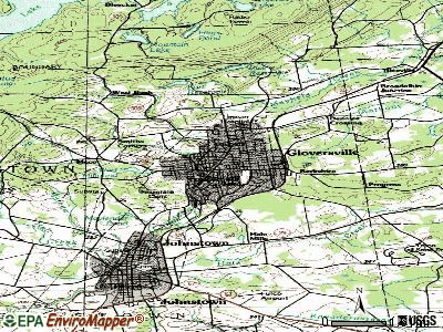 Gloversville topographic map