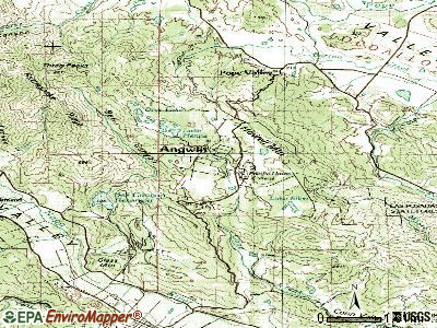Angwin topographic map