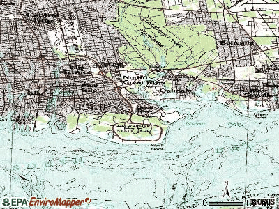 Great River topographic map