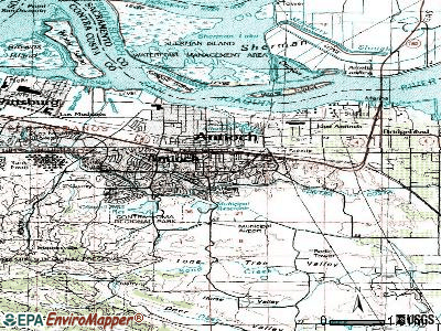 Antioch topographic map