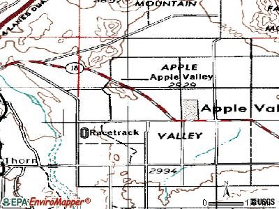 Apple Valley topographic map