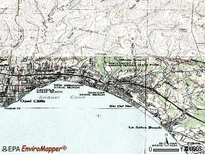 Aptos topographic map