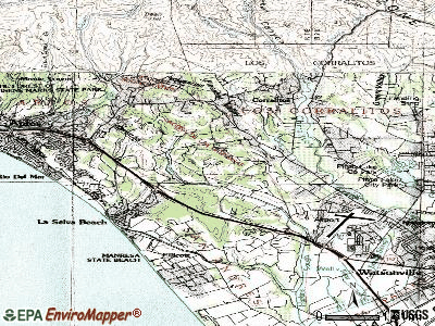Aptos Hills-Larkin Valley topographic map