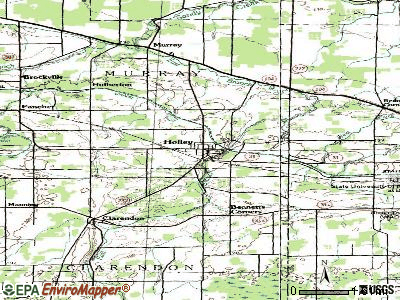 Holley topographic map