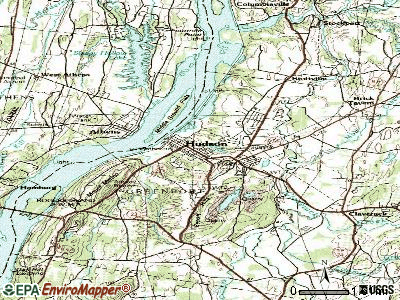 Hudson topographic map