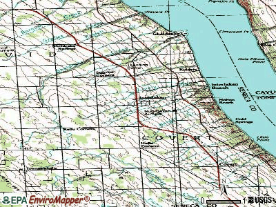 Interlaken topographic map