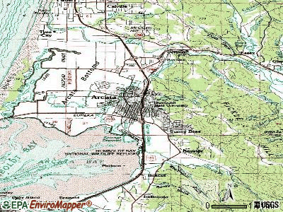Arcata topographic map