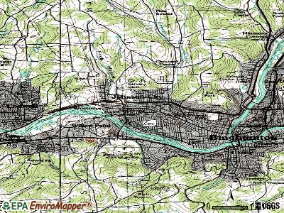 Johnson City topographic map