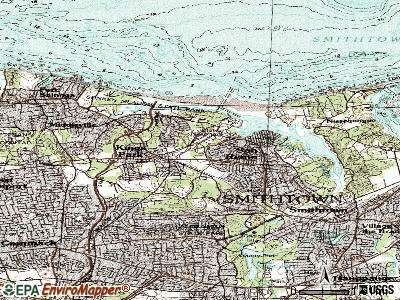 Kings Park topographic map