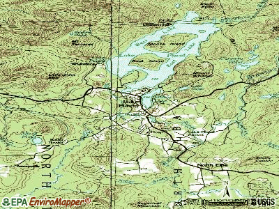 Lake Placid topographic map