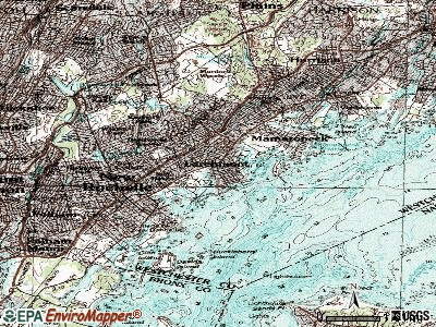 Larchmont topographic map