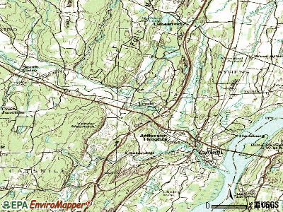 Leeds topographic map