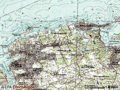 Locust Valley topographic map