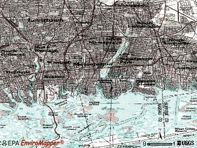 Massapequa topographic map