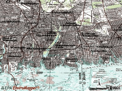 Massapequa Park topographic map