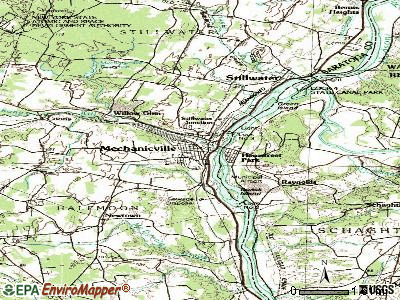 Mechanicville topographic map
