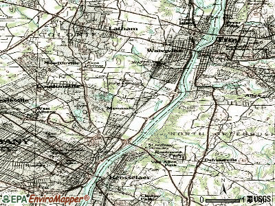 Menands topographic map