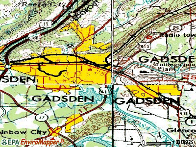 Gadsden topographic map