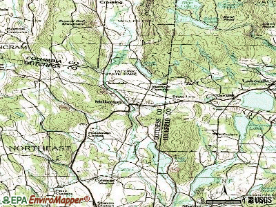 Millerton topographic map