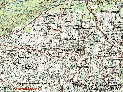 Monsey topographic map
