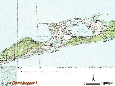 Montauk topographic map