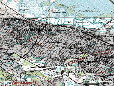 Atherton topographic map