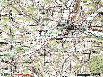 Munsons Corners topographic map