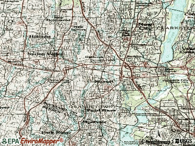 Nanuet topographic map