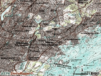 New Rochelle topographic map