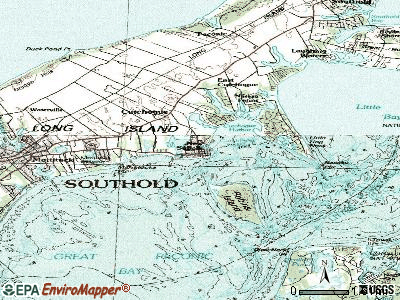 New Suffolk topographic map
