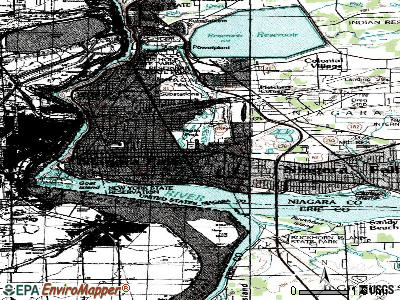 Niagara Falls topographic map