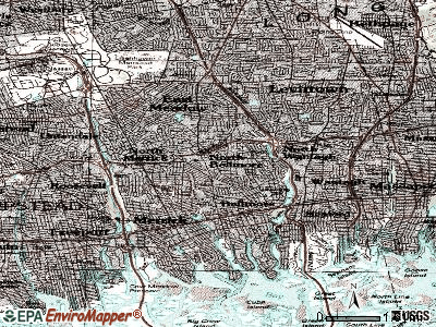 North Bellmore topographic map
